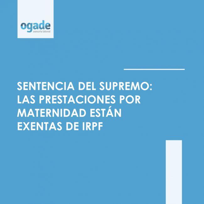 prestaciones por maternidad exentas IRPF